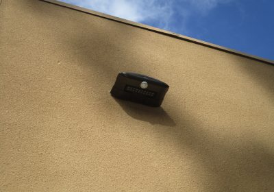 The Energy Smiths install energy saving outdoor LED lighting fixtures in San Diego.